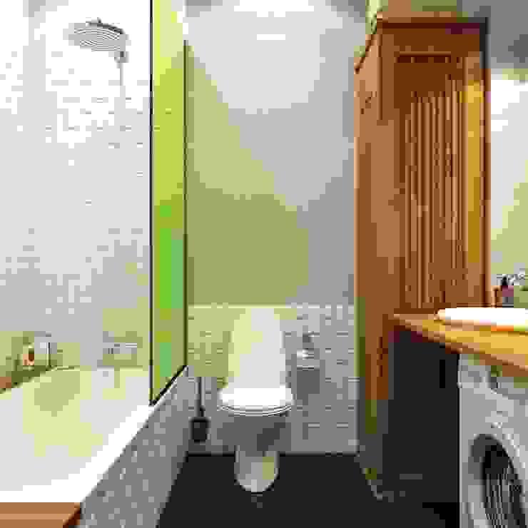 дизайн квартиры 50м2 Ванная комната в скандинавском стиле от sreda Скандинавский