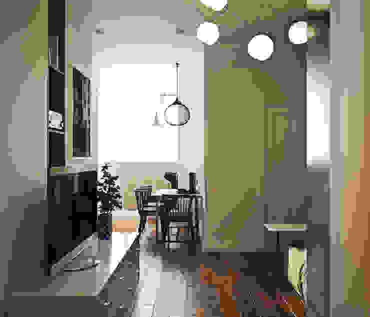 дизайн квартиры 50м2 Гостиная в скандинавском стиле от sreda Скандинавский