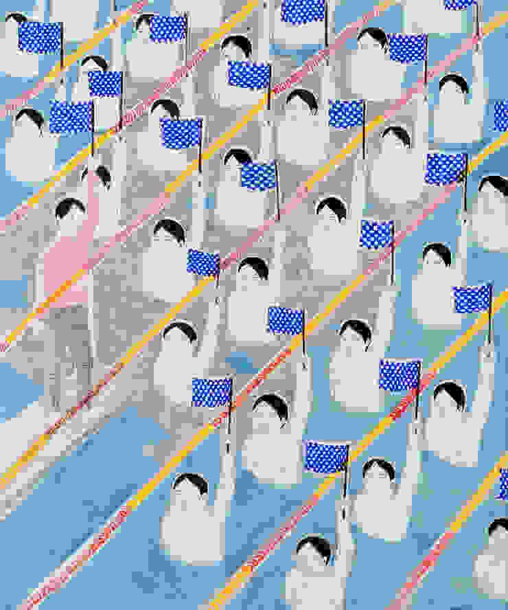 조민아-Silent Majority-72.7x60.6cm-장지에 혼합재료-2015: CHO-MIN AH의 현대 ,모던