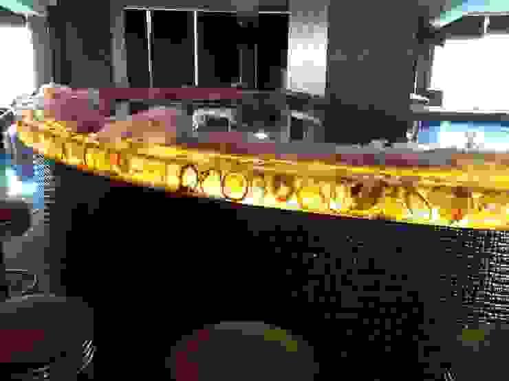 ışıklı tezgahlar Modern Bar & Kulüpler isiklilavabolar Modern