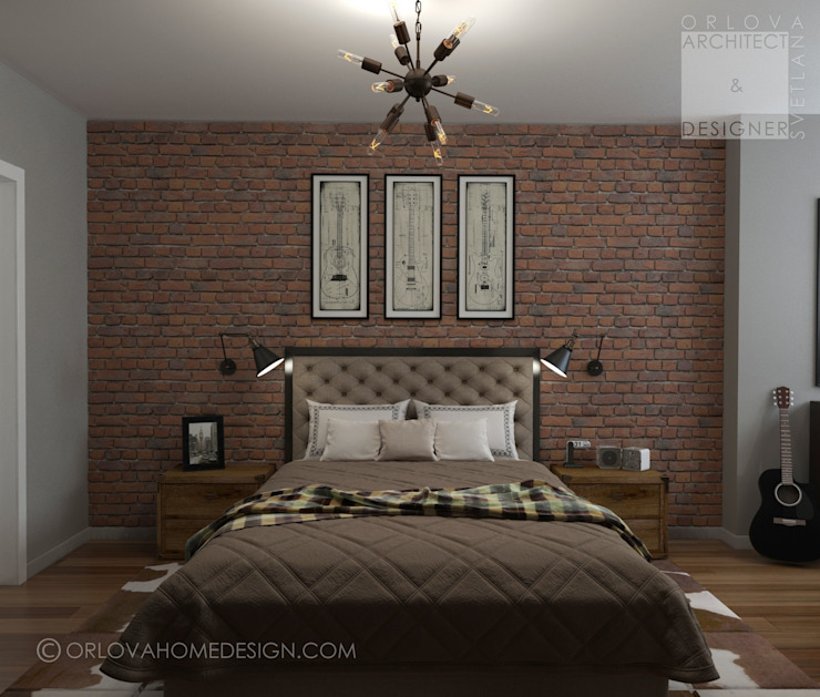 Orlova Home Design Industrial style bedroom