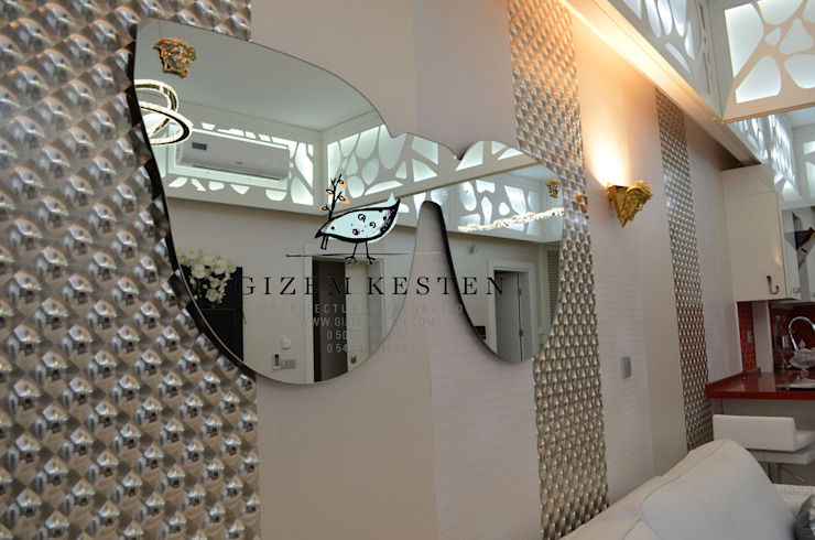 Paredes y pisos de estilo moderno de Gizem Kesten Architecture / Mimarlik Moderno