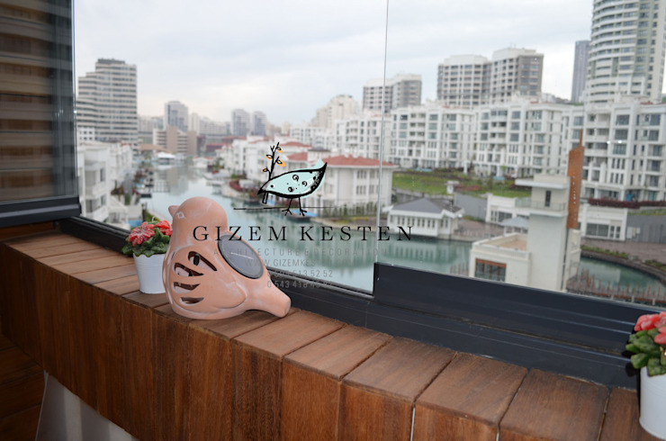 Gizem Kesten Architecture / Mimarlik Modern balcony, veranda & terrace