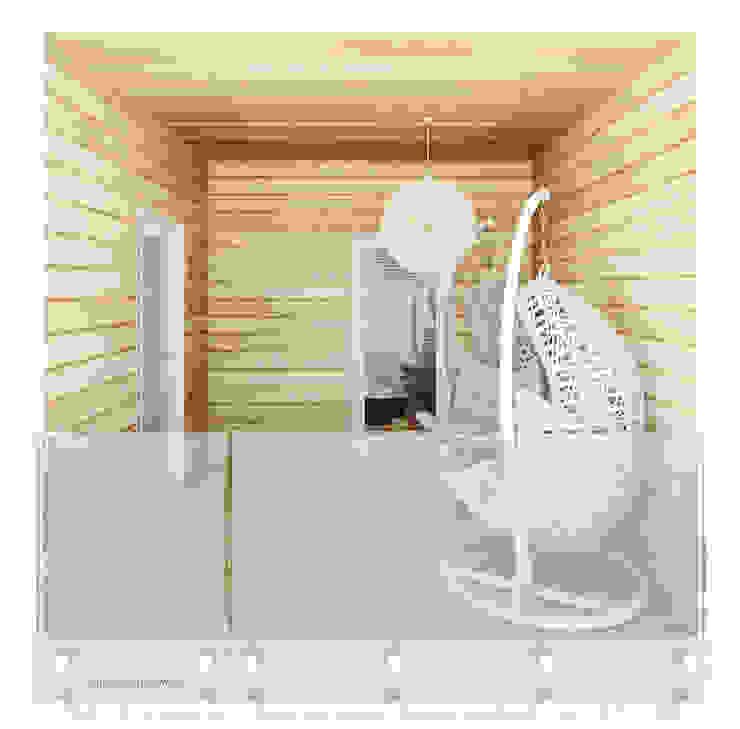 Projekt tarasu Minimalistyczny ogród zimowy od Ale design Grzegorz Grzywacz Minimalistyczny