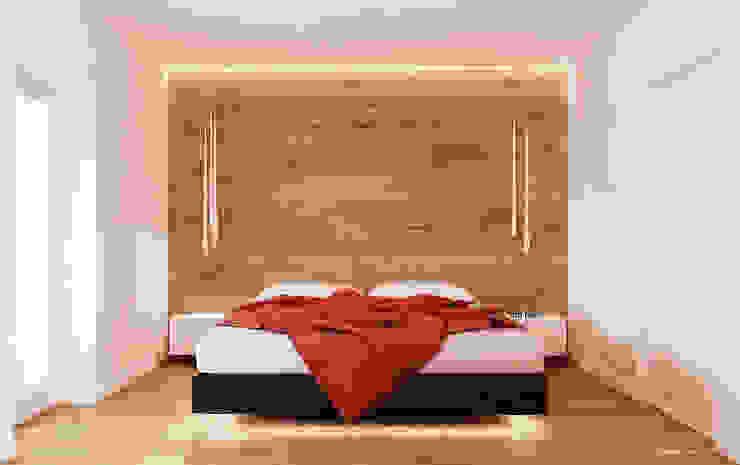 Minimalist bedroom by Ale design Grzegorz Grzywacz Minimalist