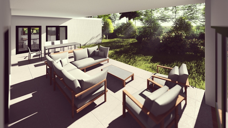 Balcones y terrazas de estilo moderno de FARGO DESIGNS Moderno