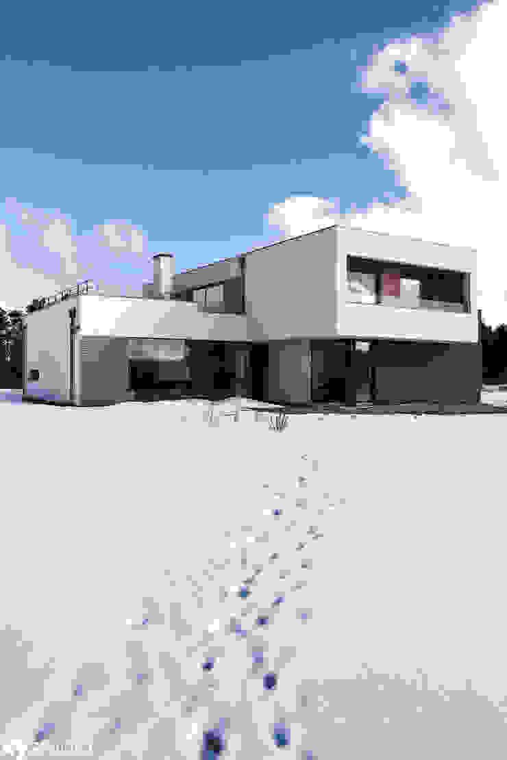 Dom Jednorodzinny w Gdańsku Nowoczesne domy od xystudio Nowoczesny