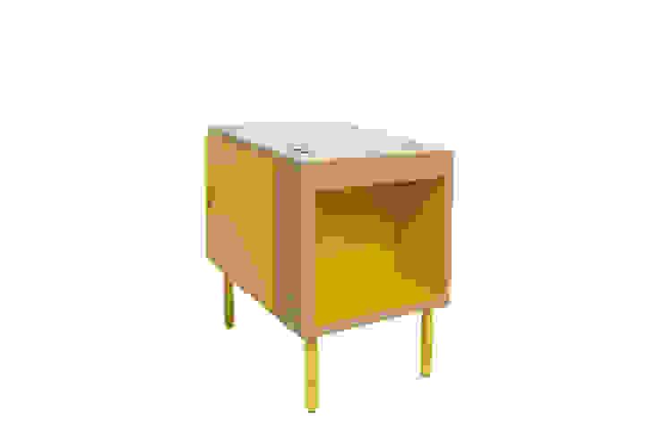 Mesilla de noche - Las Mil y Una Noches - color amarillo de Chez D&C design Minimalista