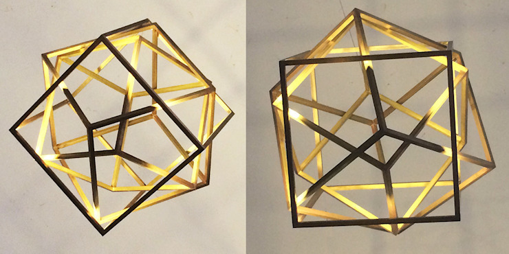 Cubing, suspended light sculpture di Francesco Della Femina
