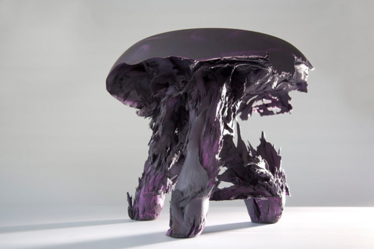 Original Gravity Stool – Purple: modern  door Jólan van der Wiel, Modern