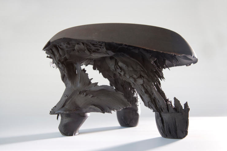 Original Gravity Stool – Black: modern  door Jólan van der Wiel, Modern