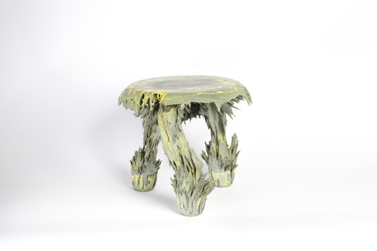 Gravity Stool – Yellow: modern  door Jólan van der Wiel, Modern