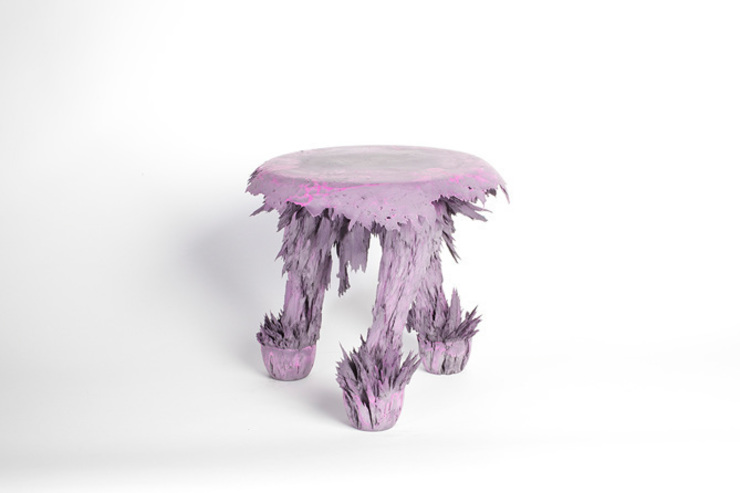 Gravity Stool – Light Pink: modern  door Jólan van der Wiel, Modern