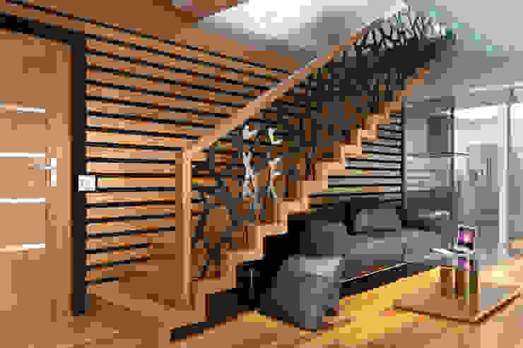 Schody dywanowe Nowoczesny salon od Schodo System Nowoczesny