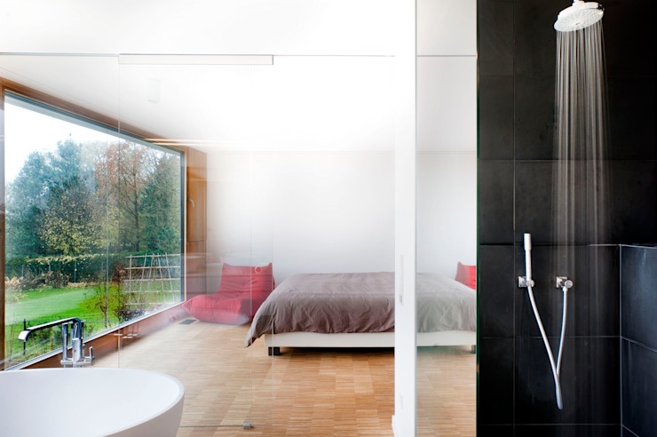 Moderne slaapkamers van STEINMETZDEMEYER architectes urbanistes Modern