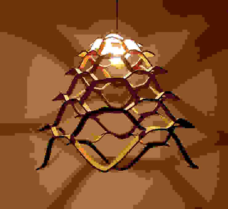 Amaterasu - Corkmatters pendant lamp:  Gang, hal & trappenhuis door Tiago Sa da Costa Studio,