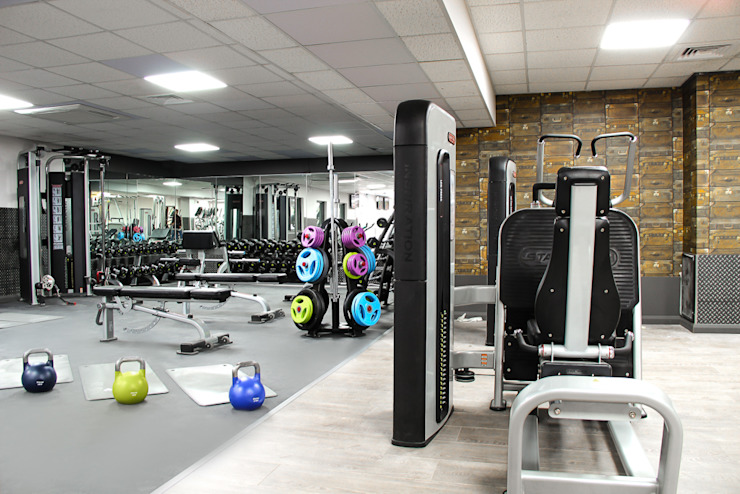 The Northwood Club - A boutique style gym Modern bars & clubs by Bhavin Taylor Design Modern