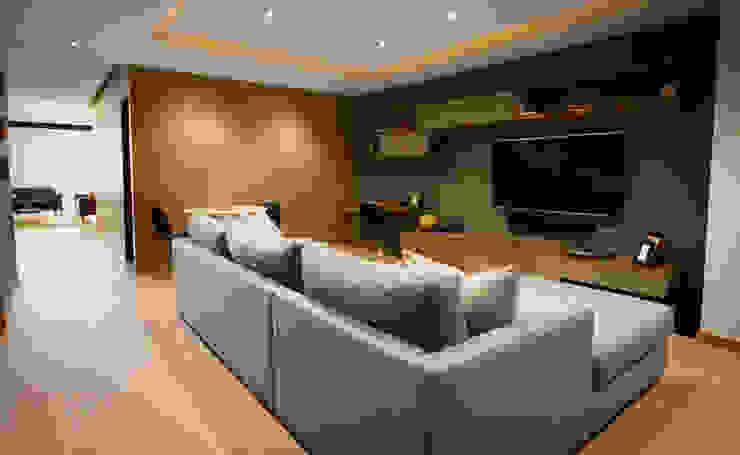 Ruang Media Modern Oleh Concepto Taller de Arquitectura Modern