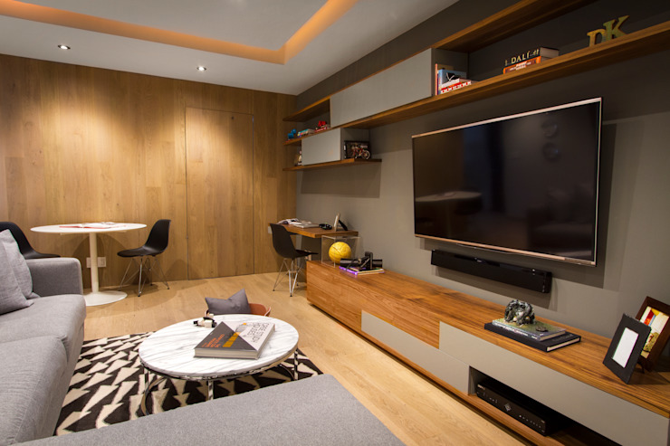 Media room by Concepto Taller de Arquitectura,
