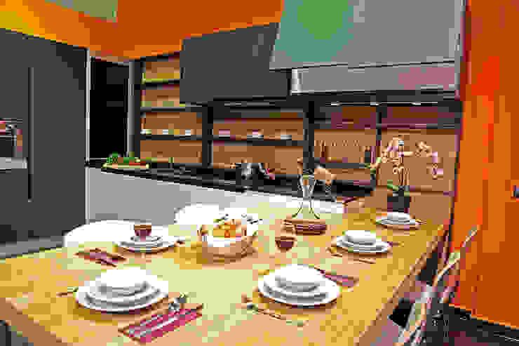 GREY Modern Mutfak Ada Ahşap Modern