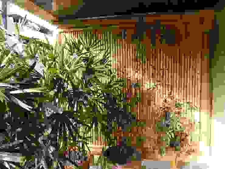 Varandas, marquises e terraços rústicos por Bambu Rei Eco-Design Rústico