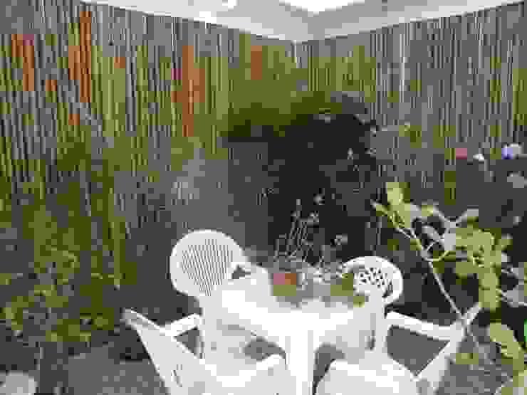 Balkon, Beranda & Teras Gaya Rustic Oleh Bambu Rei Eco-Design Rustic
