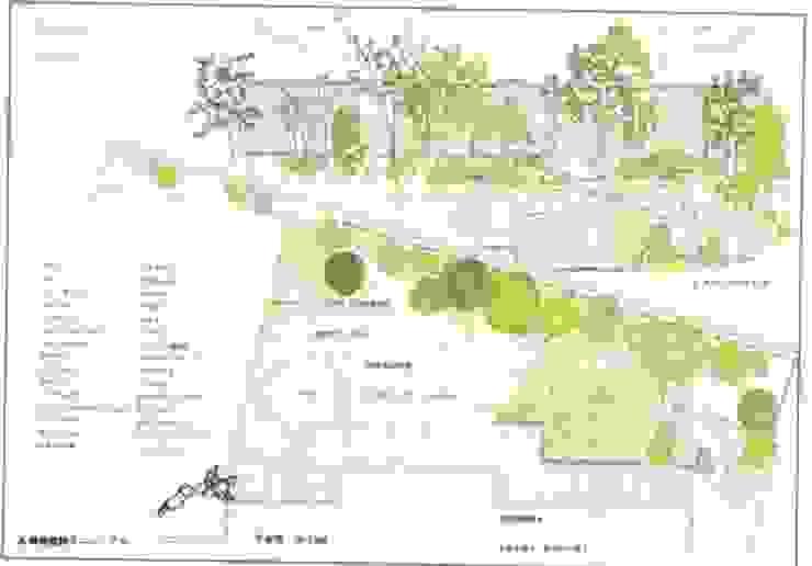 植栽だけの遮蔽は鬱陶しくなりがち…: アーテック・にしかわ/アーテック一級建築士事務所が手掛けたカントリーです。,カントリー