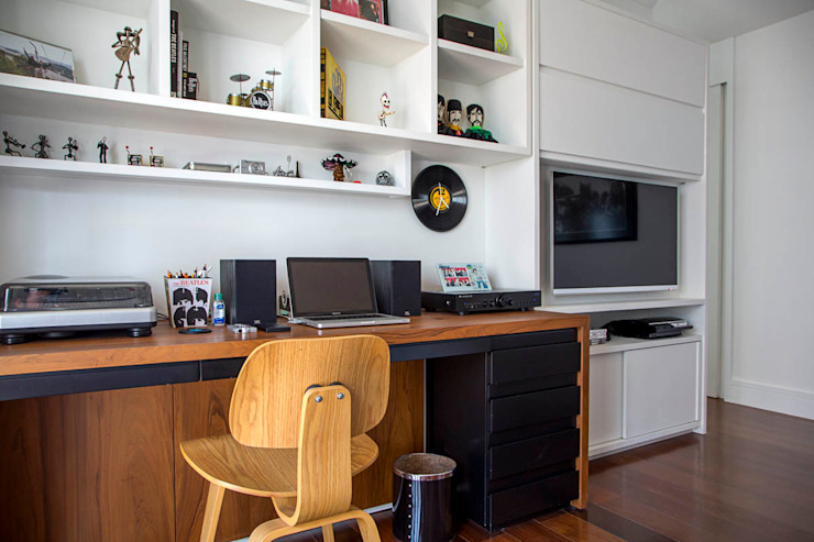 apartamento LAC Quartos modernos por Raquel Junqueira Arquitetura Moderno