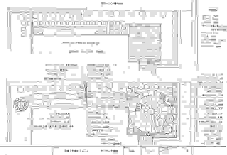 主庭&サイドガーデン平面図: アーテック・にしかわ/アーテック一級建築士事務所が手掛けたカントリーです。,カントリー
