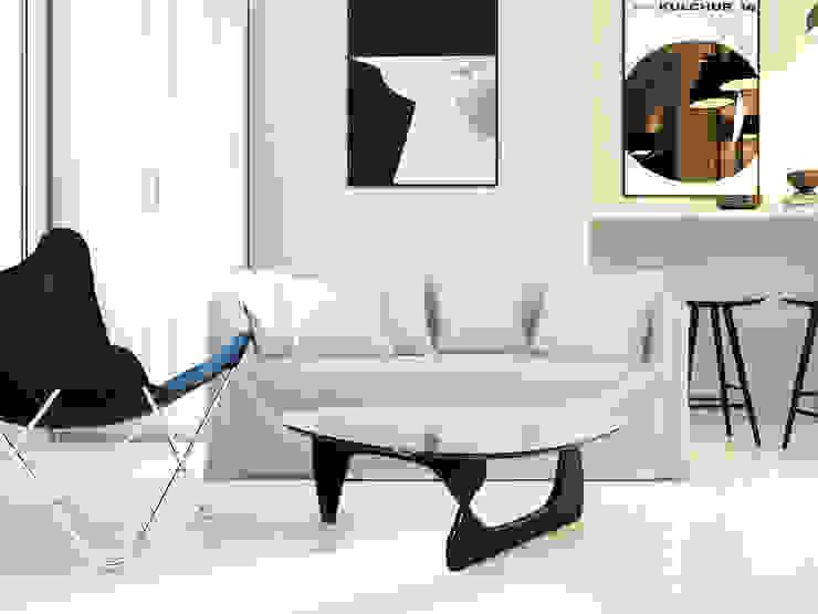 studio design Salle à manger moderne par Agence KP Moderne Bois Effet bois