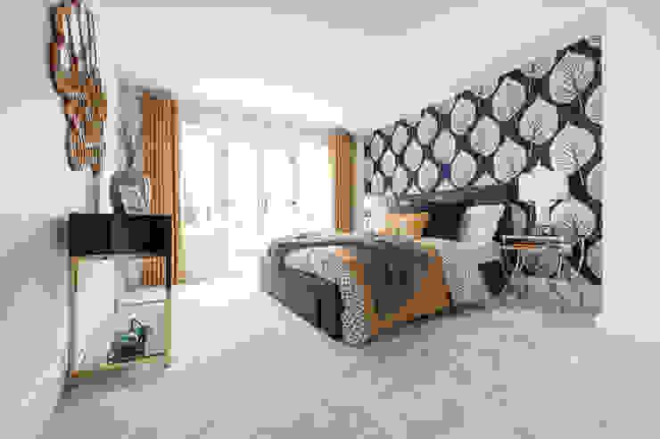 Master Bedroom Jigsaw Interior Architecture 寝室テキスタイル