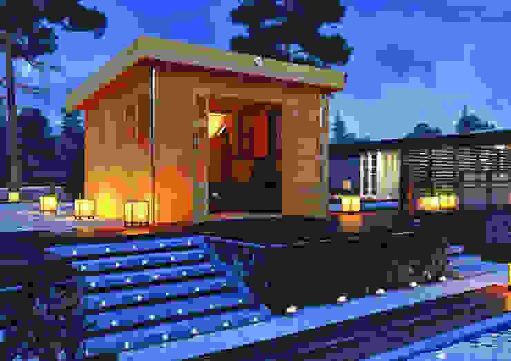 Jardines modernos: Ideas, imágenes y decoración de Karibu Holztechnik GmbH Moderno