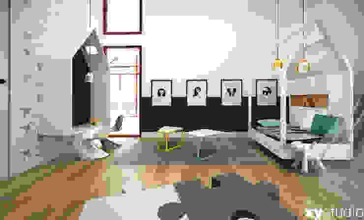 pokój dla chłopca Nowoczesny pokój dziecięcy od xystudio Nowoczesny