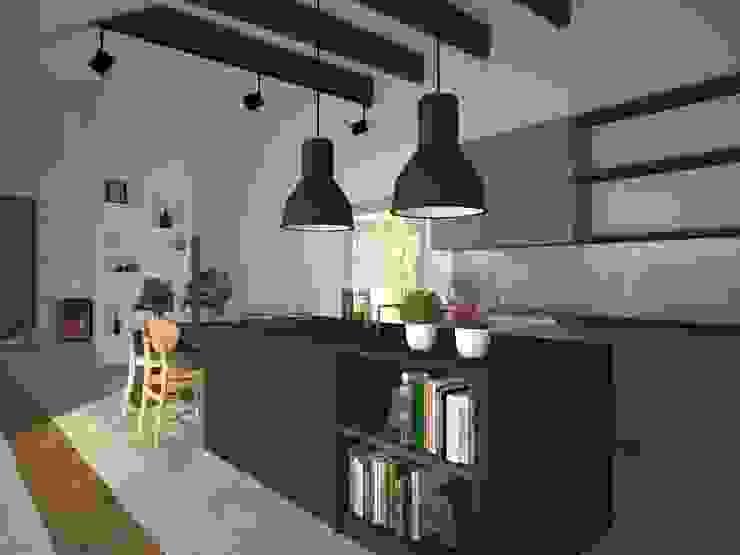 Dom w Łodzi Nowoczesna kuchnia od Kameleon - Kreatywne Studio Projektowania Wnętrz Nowoczesny