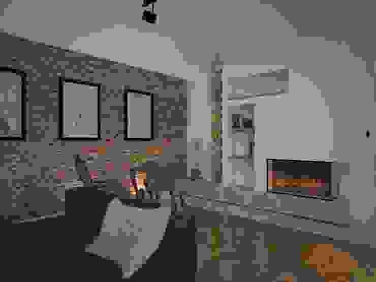 Dom w Łodzi Nowoczesny salon od Kameleon - Kreatywne Studio Projektowania Wnętrz Nowoczesny
