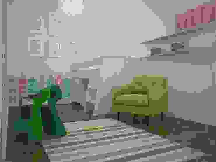 Dom w Łodzi Nowoczesny pokój dziecięcy od Kameleon - Kreatywne Studio Projektowania Wnętrz Nowoczesny