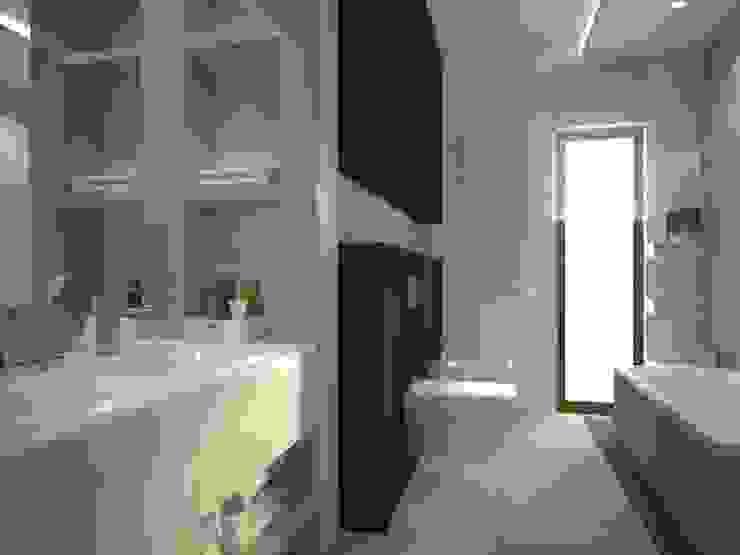 Dom w Łodzi Nowoczesna łazienka od Kameleon - Kreatywne Studio Projektowania Wnętrz Nowoczesny
