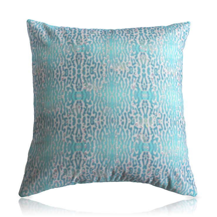 INDIAN BLUE RINGNECK PARAKEET CUSHION Wolf And Badger HouseholdTextiles