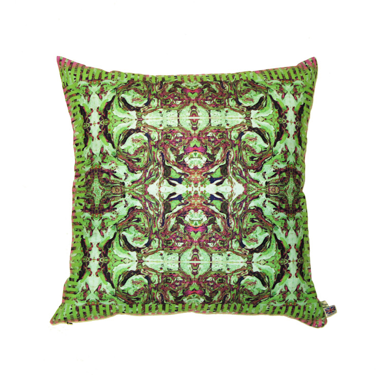 ROYAL GREEN CUSHION Wolf And Badger HouseholdTextiles
