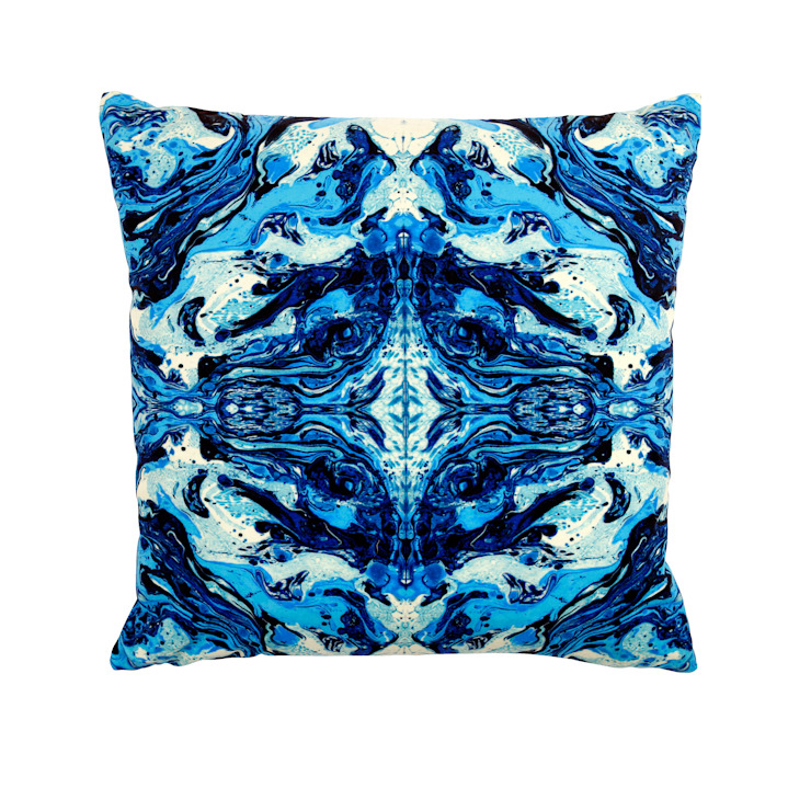 DELTA BLUE CUSHION (S) Wolf And Badger HouseholdTextiles