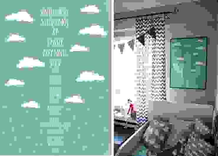 plakat Aniele Bozy autorstwa Sabiny Kulaszewicz Skandynawski pokój dziecięcy od PRACOWNIA PROJEKTOWA SHEKOKU Sabina Kulaszewicz Skandynawski