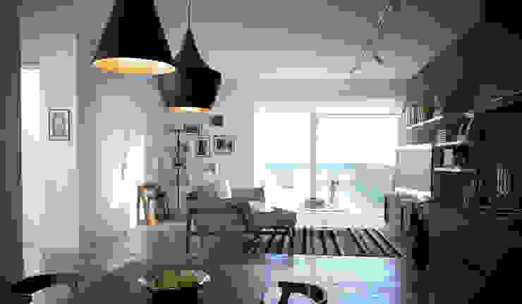 Casa al mare. Soggiorno in stile industriale di SMAG design Industrial