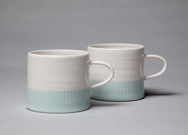 White Ocean Cups von madebyhandonline.com Minimalistisch