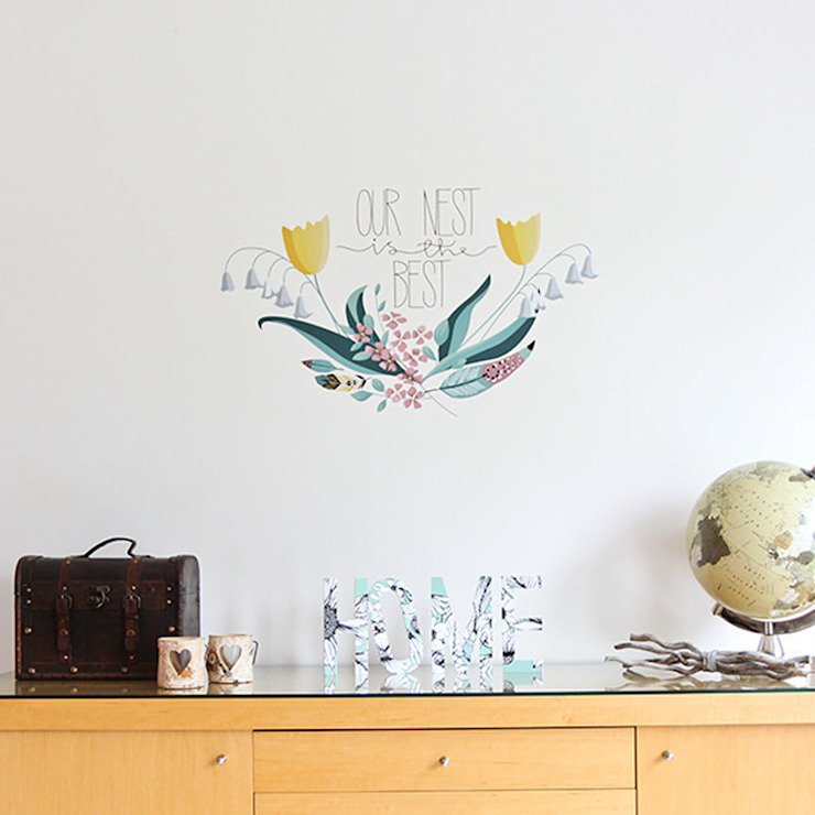 Our nest is the best wall sticker: modern  by Vinyl Impression, Modern