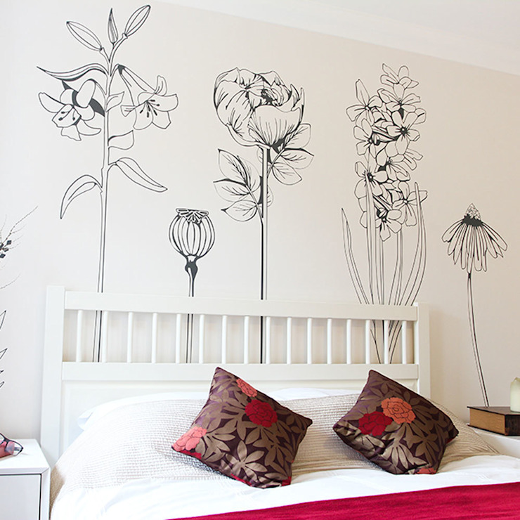 Hand drawn wall sticker collection Vinyl Impression Kırsal/Country