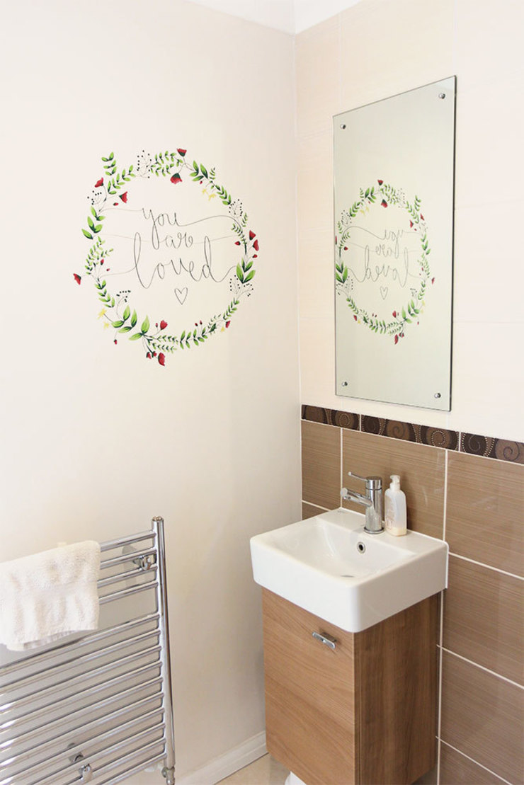 Floral you are loved wall sticker: country  by Vinyl Impression, Country