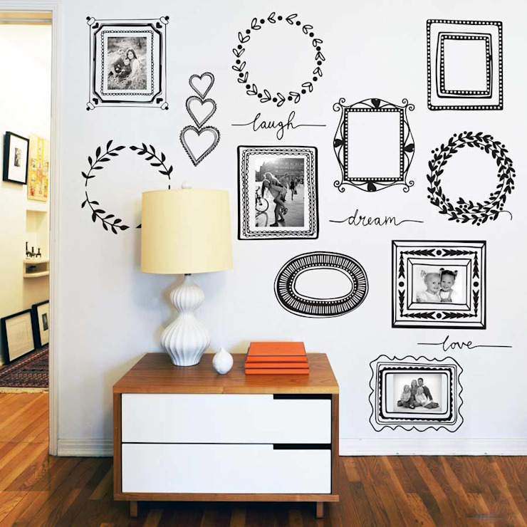 Picture frames wall sticker pack di Vinyl Impression Moderno