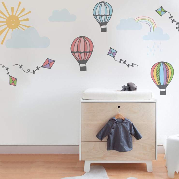 Hot hair balloon wall sticker pack de Vinyl Impression Moderno