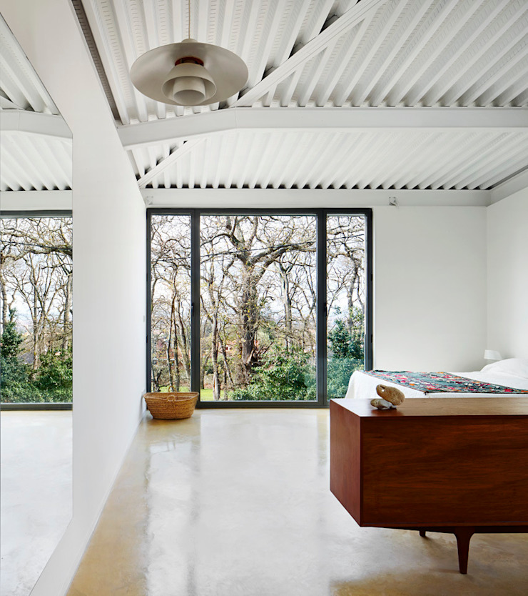 LARA RIOS HOUSE: Habitación miba architects Dormitorios de estilo industrial