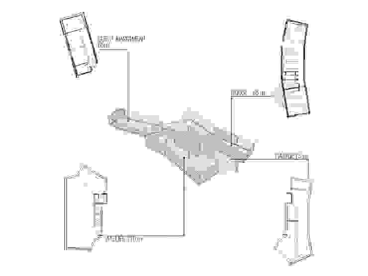 LARA RIOS HOUSE: Diagrama de organización miba architects